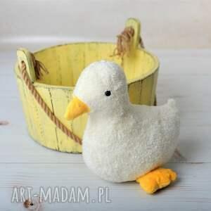 eleganckie zabawki kaczuszka-hand-made przytulanka dziecieca kaczuszka