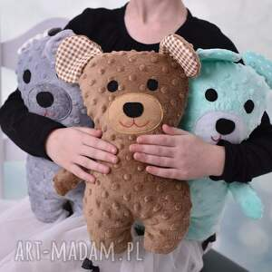 zielone zabawki miś-hand-made przytulanka dziecięca miś