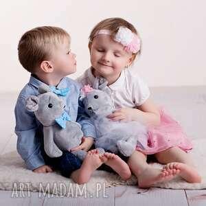 zabawki mysz-hand-made przytulanka dziecięca mysz w muszce