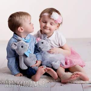 szare zabawki mysz-na-prezent przytulanka dziecieca mysz