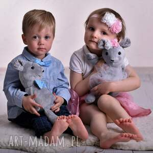 trendy zabawki myszka-na-prezent przytulanka dziecięca mysz w muszce