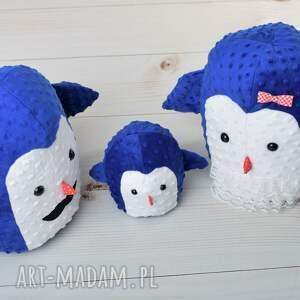 handmade zabawki pingwin-poduszka przytulanka dziecięca pingwin mama