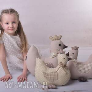 prezent na święta poduszka kura przytulanka dziecięca