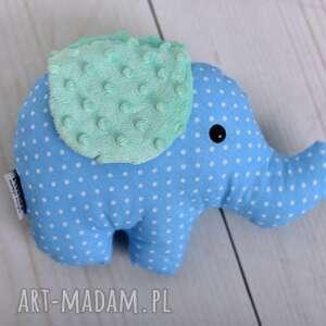 niebieskie zabawki słoń-przytulanka przytulanka dziecięca słoń