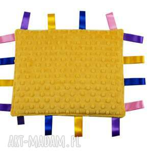 zabawki gryzak przytulanka-gryzak, wzór motyle