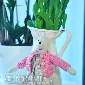 hand made zabawki przytulanka myszka ola
