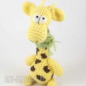 żyrafa zabawki żółte raffa - szydełkowa