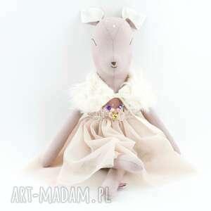 handmade zabawki sarenka w tiulowej sukience