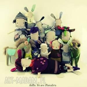 beżowe zabawki zabawka siostra szi w - laleczka hand made