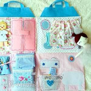 zabawki quietbook składany domek dla lalek - mata