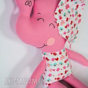 słoń zabawki różowe farciarz - wiki 48 cm