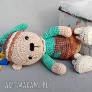 kolorowe zabawki dziecko śpioch wojtek