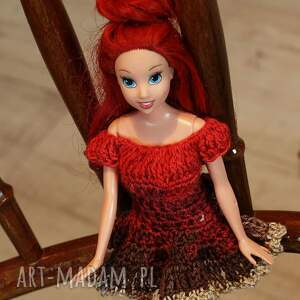 brązowe zabawki sukienkabarbie sukienka dla lalki