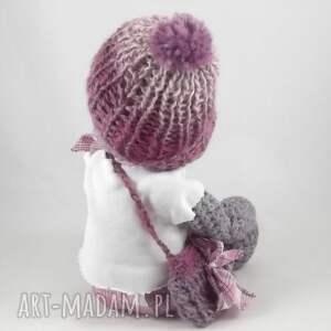 miś zabawki fioletowe szydełkowa misia anetka