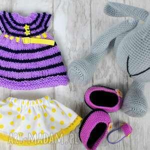 handmade zabawki owieczka szydełkowa przytulanka