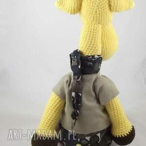 zabawki szydełkowa żyrafa
