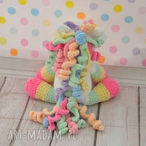 konik zabawki kolorowe szydełkowy tęczowy kucyk
