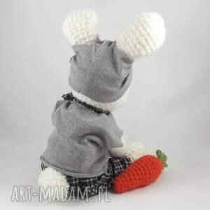 marchewka zabawki szydełkowy zając feliks