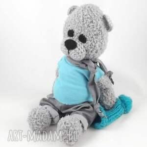 wernika handmade zabawki maskotka tolek - szydełkowy miś