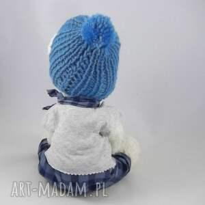 zabawki: TOMUŚ - szydełkowy miś, personalizacja - hand made mis w-ubranku