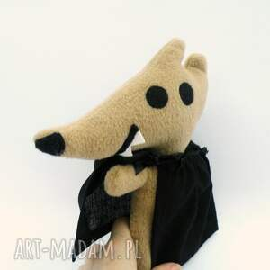czarne zabawki przytulanka wilk antek