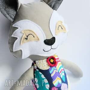 wilk zabawki białe hania