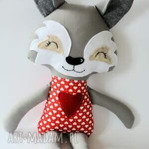 białe zabawki maskotka wilk iza 45 cm