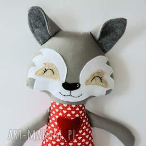 handmade zabawki wilk iza 45 cm