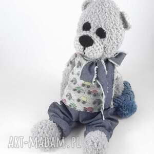 ręcznie zrobione zabawki prezent dla chłopca wituś szydełkowy miś
