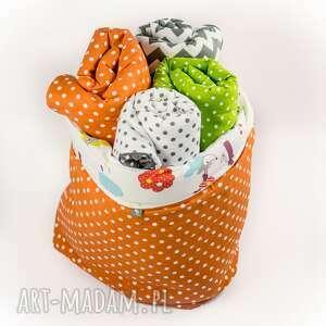 ręcznie wykonane zabawki kosz worek na i inne skarby