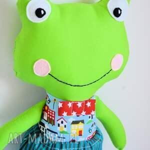turkusowe zabawki chłopczyk żabka - super kumpel - tomuś