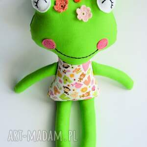 żabka zabawki różowe - wersja s julka 35 cm