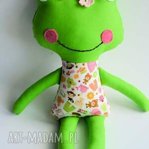 pomarańczowe zabawki dziewczynka żabka - wersja s julka 35 cm