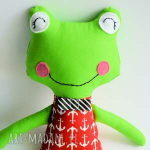ręcznie zrobione zabawki żabka - wersja s piotrek 35 cm
