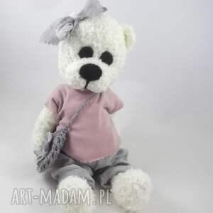 zabawki: zosia - szydełkowa misia, personalizacja - dla dziewczynki miś