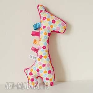 handmade zabawki niemowlę żyrafka sensorek grzechotka
