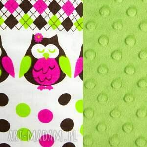 zabawki: żyrafka SÓWKI zielona - przytulanka