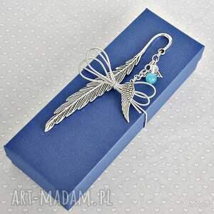 handmade zakładki zakładka anioł błękitne oczko -