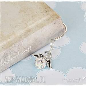 srebrne zakładki anioł elegant - zakładka do książki