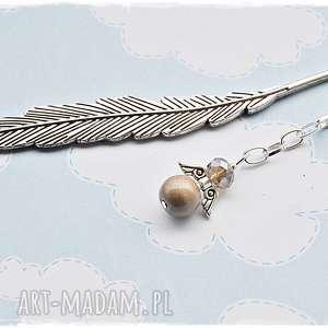 brązowe zakładki anioł platynowy - zakładka