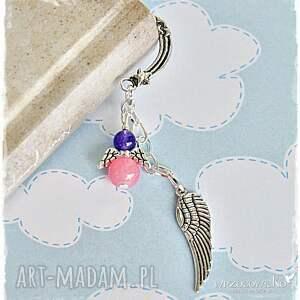 fioletowe zakładki anioł cukierkowy aniołek książkowy