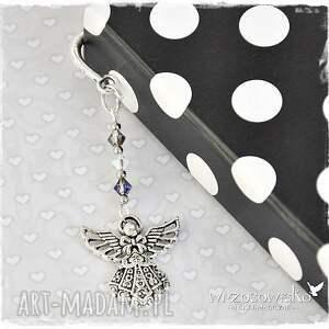 srebrne zakładki zakładka elegancki anioł - ze