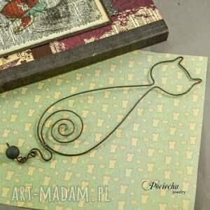 metal zakładki kot izydor - zakładka do książki