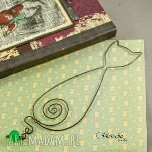 zielone zakładki zakładka kot marcel - do książki