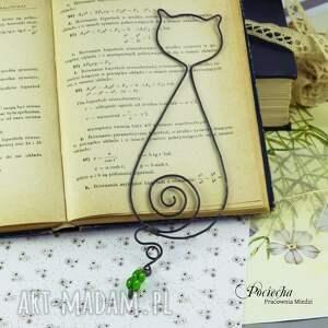 zielone zakładki zakładka kot wiktor - do książki
