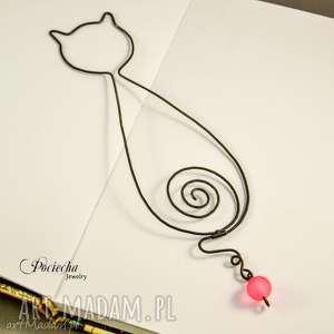 ręcznie robione kotka leokadia - zakładka do