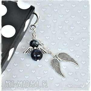 czarne zakładki komplet nocne anioły - zestaw prezentowy