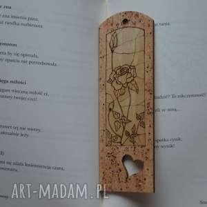 nietuzinkowe zakładki retro różana zakładka - ręcznie wypalana