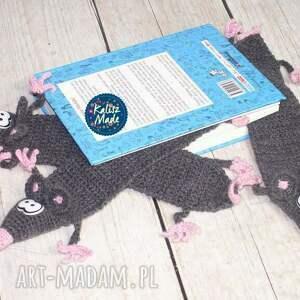 szczur zakładki różowe zaczytany szczurek - zakładka