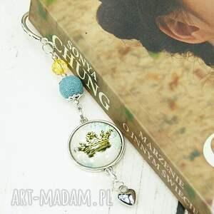 handmade zakładki korona zakładka wykonana z metalowych elementów